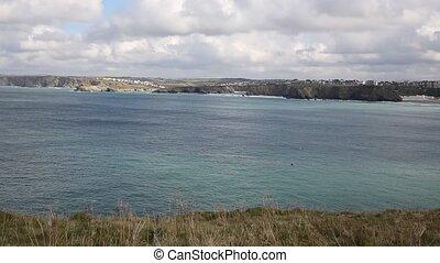 Newquay Bay Cornwall England UK - Newquay Bay North Cornwall...