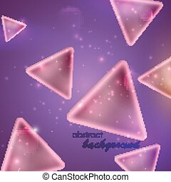 abstract purple background with triangle shapes