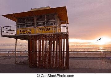 Surfers Paradise Esplanade Queensland Australia - Sunrise...