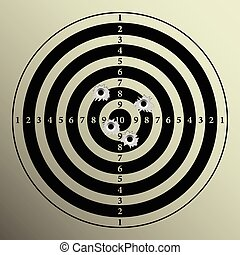 Target - Illustration of target shooting as a background.