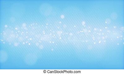 glowing bokeh circles blue loop