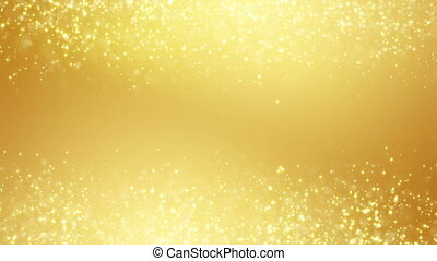 gold glitter dust two sides loop