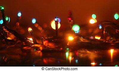 colorful luminous garland loop - colorful luminous garland...