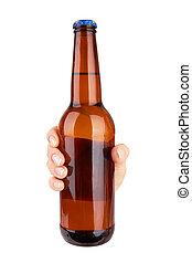 Cerveja, garrafa,