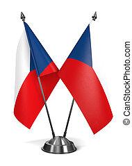 Czech Republic - Miniature Flags. - Czech Republic -...