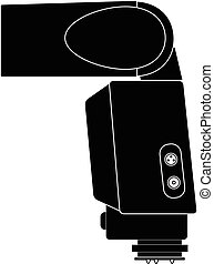 slr, dslr flash vector illustration silhouette