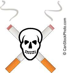 smoking kills skull