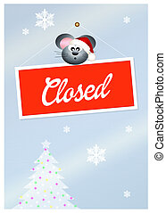 closed for holidays - illustration of closed for holidays