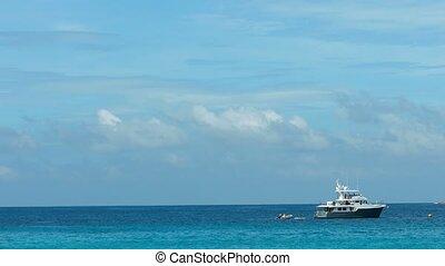 Dive boat near Ko Miang island, Similan Islands, Thailand