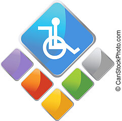 Handicap Diamond - image isolated on a white background.