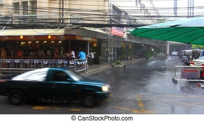 Thailand, Bangkok, 1 August 2014. Road in the city centre...