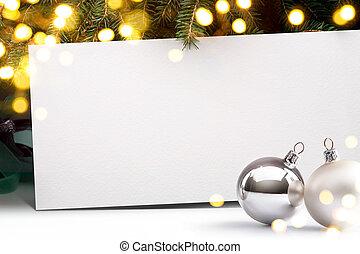 arte, Natal, convite, fundo,