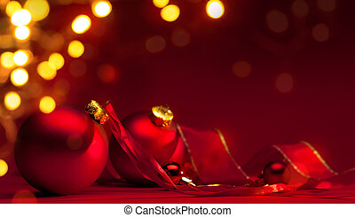 art red christmas holiday background