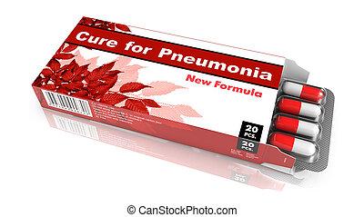 cura, para, Pneumonia, vermelho, abertos, bolha, Pack.,