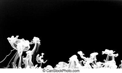 Paint Ink Splatter in Underwater