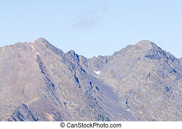 mountains of Andorra La Vella with some snow