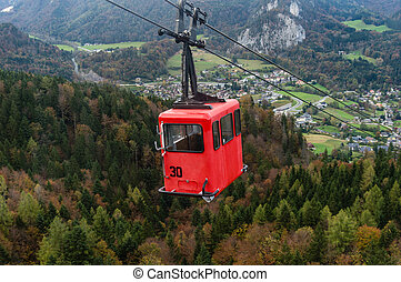 St. Gilgen Cable Car - View from Zwolferhorn on Wolfgangsee...