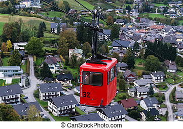 St Gilgen Cable Car - View from Zwolferhorn on Wolfgangsee...