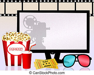 Cinema - illustration of Cinema