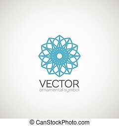 Vector ornamental symbol - Ornamental logo template design...