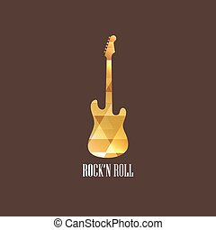 illustration with diamond guitar icon