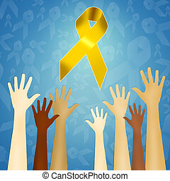 yellow ribbon - illustration of yellow ribbon