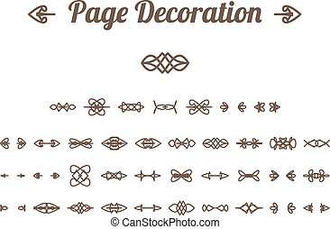 Calligraphic page decoration