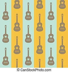 seamless vintage background with guitars
