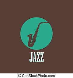 illustration with a saxophone