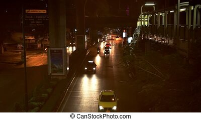Bangkok. Thailand. 1 august 2014. View of Evening Rush Hour...