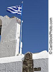 Scenic orthodox church in Greece