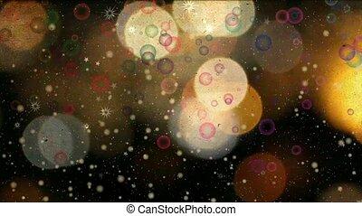 vibrant night sparkles loop
