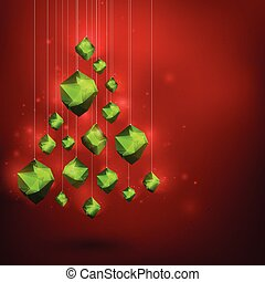 Merry Christmass and Happy New Year abstract vector...