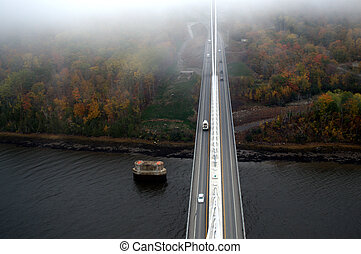 Skyview from suspension bridge - Obelisk Suspension Bridge,...