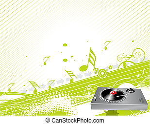 musical theme - Illustration on a musical theme with...