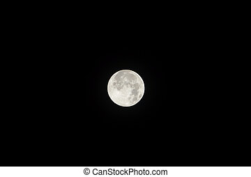 Moon at it largest also called supermoon, aprox ten procent...