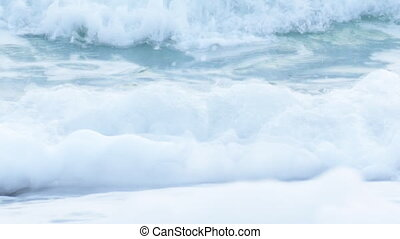 north sea waves in winter