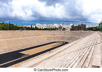 Panathenaic Stadium Athens, Greece - View of Panathenaic...