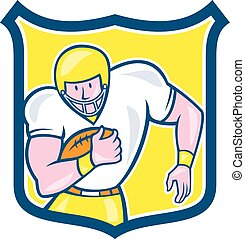 American Football Fullback Shield Retro - Illustration of an...