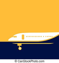 airliner - stylized illustration on the theme of air...