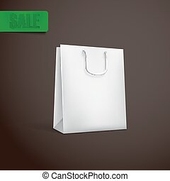 white shopping bag mock-up