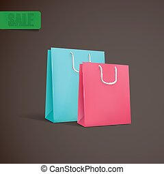 colorful shopping bags mock-up