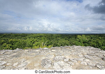 Jungle view, Yaxha Mayan ruins - View over the jungle canopy...