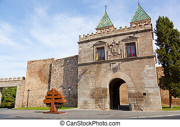 Puerta de Bisagra, the main entrance onto the territory of...