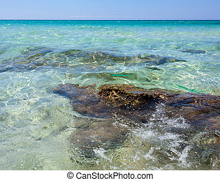 Baia Verde Beach near Gallipoli, Salento, Italy