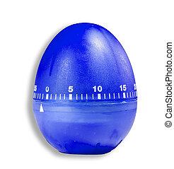 Modern design of a timekeeper shaped as an egg