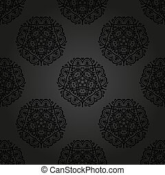 Floral Seamless Pattern. Orient Abstract Background - Floral...