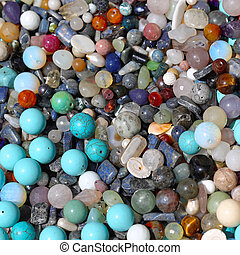 Semi precious stones - Bunch of semi precious gem stones for...