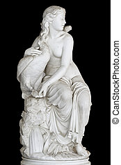 Classic Greek statue of a mythical muse