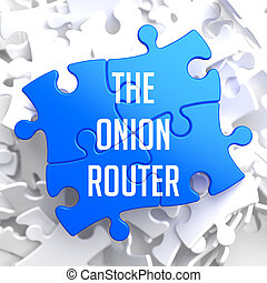 The Onion Router on Blue Puzzle. - The Onion Router - Blue...